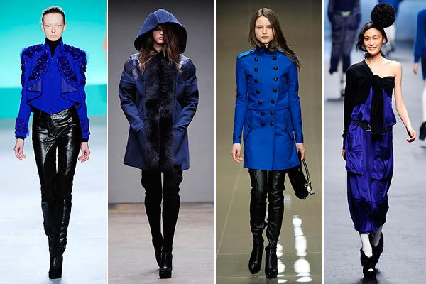 Сочетание синего и черного в одежде фото