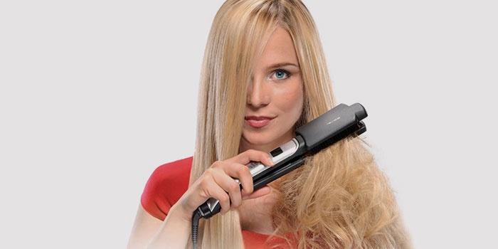 Использование выпрямителя для укладки волос