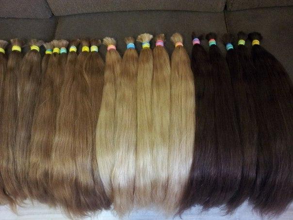 Южнорусские волосы в срезах для наращивания.